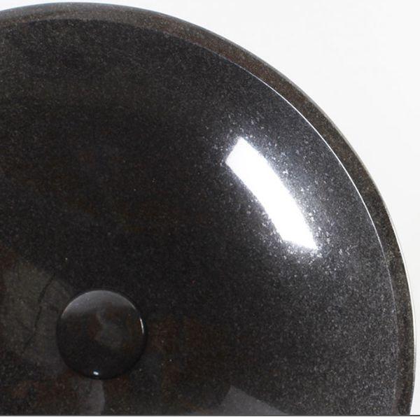 Absolute Black Polished Round Vessel Sink