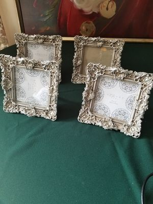$10.00 - Dainty Silver Picture Frames, Look at Details/Like New/Lowest Price for Sale in Miami, FL