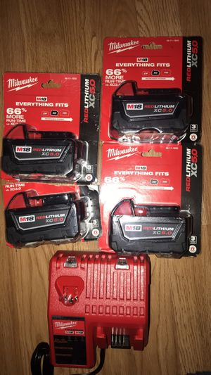 Brand New Milwuakee batteries for Sale in Lakewood, WA