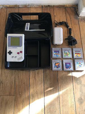 Original Nintendo Game Boy, Rechargeable Power Pack & 6 games for Sale in Alexandria, VA