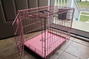 Small pink dog cage for Sale in Wyandotte, MI