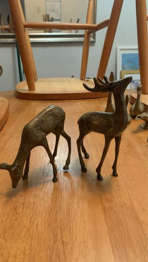 Two Bronze Reindeers for Sale in Houston, TX
