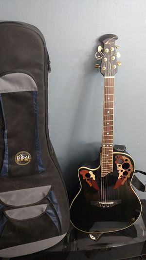 Left handed Ovation Celebrity Elite acoustic electric guitar for Sale in Columbia, MO