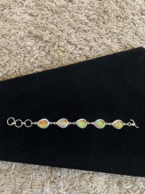 Rainbow opal bracelet 925 silver gem 30$ firm for Sale in Elk Grove, CA