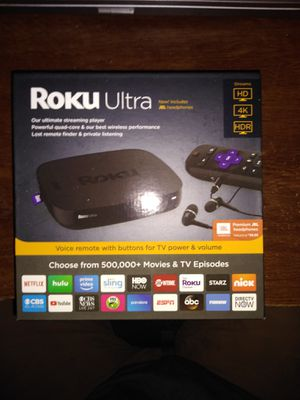 Roku Ultra new in box for Sale in St. Petersburg, FL