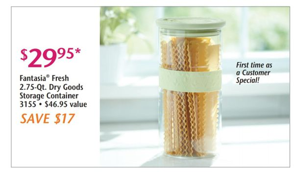 2.75 qts dry goods storage Containers