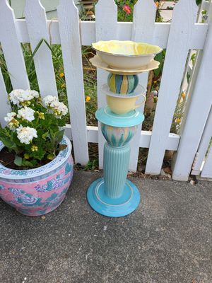 Pretty Birdbaths from repurposed pottery for Sale in Mukilteo, WA