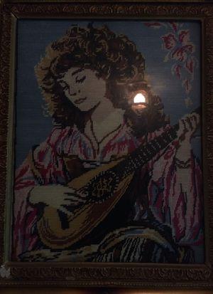 Cross stitched framed picture for Sale in Blacksburg, VA