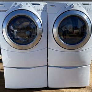Whirlpool Duet Washer And Dryer Set With Pedestals for Sale in Hesperia, CA