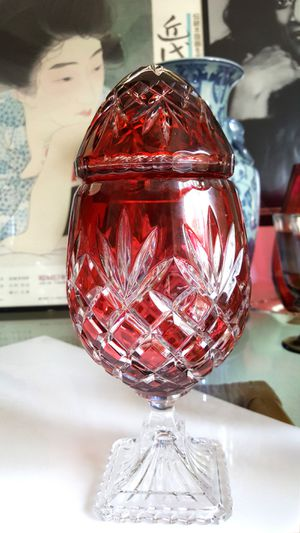Lead Crystal Art, Regency Egg, Made in Poland for Sale in Tempe, AZ