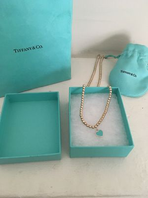 Tiffany and co heart necklace for Sale in Philadelphia, PA