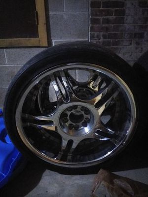 Chrome rims and tires (4) for Sale in Biddeford, ME