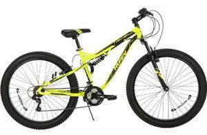 "Huffy 27.5"" mayhem mountain bike with yellow frame for Sale in Garden Grove, CA"