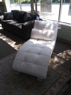 Leather sofa chaise for Sale in Cleveland,  OH