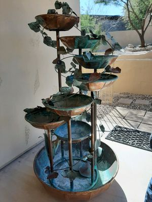 Copper fountain, 6ft tall, pump works for Sale in Phoenix, AZ