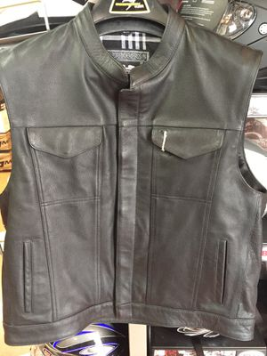 New motorcycle leather club style vest $120 for Sale in Whittier, CA