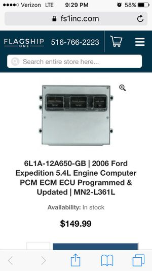 PRE-OWNED NON PROGRAMMED ECM FOR 2006 FORD EXPEDITION 4 * 4 for Sale in Germantown, MD