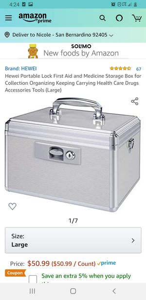 Hewei portable first aid storage box for Sale in San Bernardino, CA