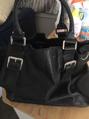 MK black leather bag for Sale in Spokane, WA