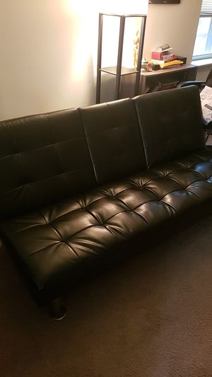 3 Seat Futon w/hidden cupholders & armrests for Sale in Philadelphia, PA