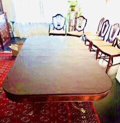 1940's 10-pc dining room set - Duncan Phyfe dining table/Chippendale/Sheraton shield chairs for Sale in Frederick, MD