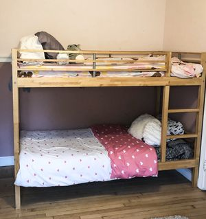 Twin Size Bunk Bed - Solid Maple for Sale in Herndon, VA