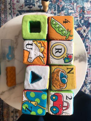 Baby Toy Sensory Block with removable inserts for Sale in Frisco, TX