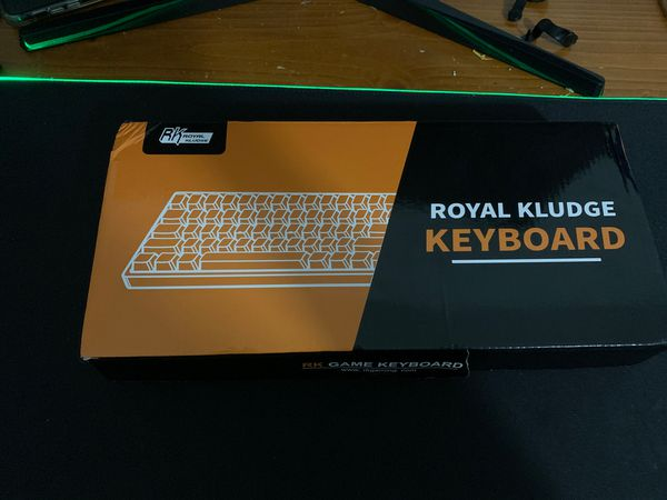 Rk61 white 60% keyboard