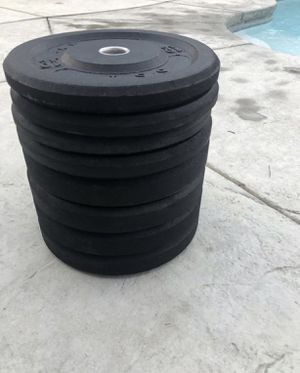 Standard Olympic Bumper Weight Plate Set - 2inch for Sale in Bell Gardens, CA