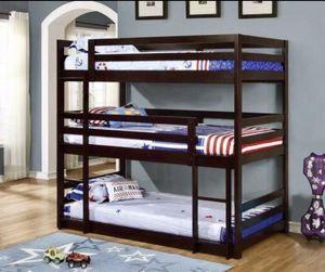 Twin Triple Layer Bunk Bed for Sale in Atlanta, GA