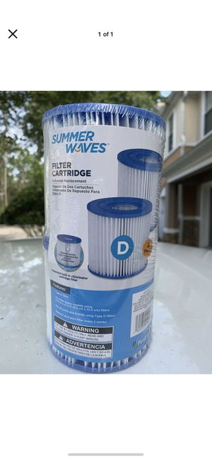 6 Total Summer Waves Type D Pool filters for Sale in Redmond, WA