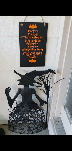 Personalized Halloween Door Family Sign for Sale in San Jose, CA