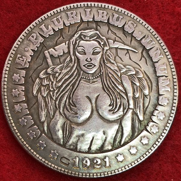 Dark Angel Tibetan Silver Coin. First $20 Offer Automatically Accepted. Shipped Same Day