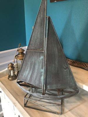 Metal ship outdoor candle decor for Sale in Fellsmere, FL