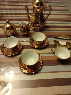 Vintage gold coffee or tea set 24K gold 22 K gold$200 ob for Sale in Fresno, CA