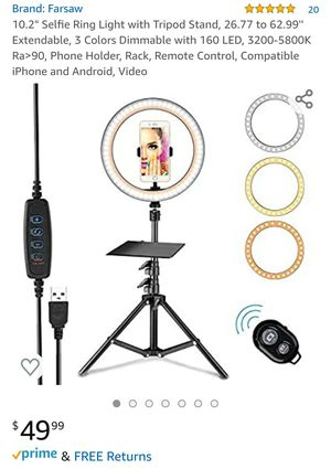 Selfie ring light for Sale in Bloomington, CA
