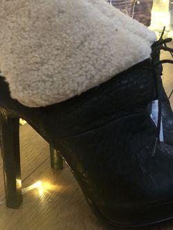 Zara Black Leather Heels for Sale in Henderson,  NV