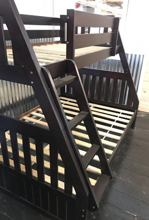 Twin full bunk bed super sale !!! Brand new sturdy !!! Free delivery!!! for Sale in Philadelphia, PA