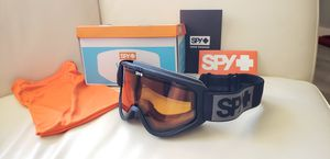 Spy Woot Black Snowboard Ski Snow Sport Goggles in box in great condition one small scratch see photos includes dust bag and spy sticker for Sale in Ontario, CA