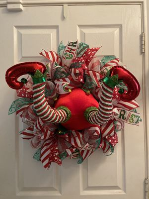 Christmas Elf Wreath for Sale in Spring, TX