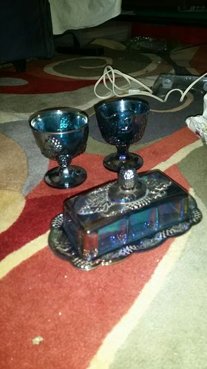 Carnival set butter dish,creamer and sugar dish. for Sale in Apple Valley, CA