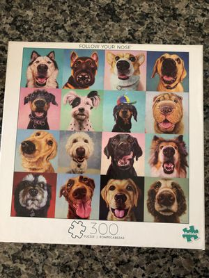 Follow your nose 300 piece dog jigsaw puzzle by buffalo games for Sale in Murrieta, CA