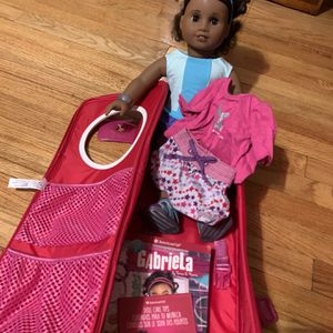 """Gabriela"" American Girl Doll w/Backpack Carry Case for Sale in Detroit, MI"