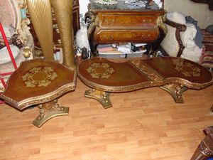 2 Ornate Victorian golden tables for Sale in Las Vegas, NV
