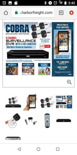 Cobra  Home | 8 Channel Surveillance DVR with 4 HD Cameras and Mobile Monitoring Capabilities for Sale in Los Angeles, CA