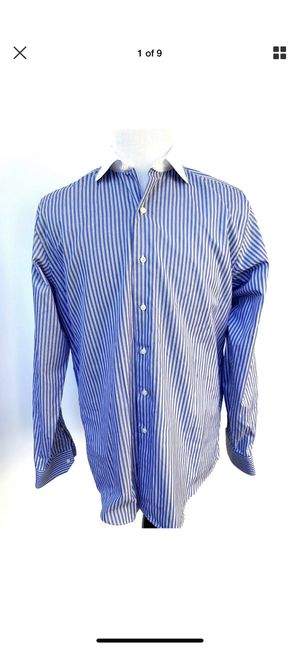 Brooks Brothers Men's Dress Shirt Blue Striped Slim 16.5 36 Egyptian Cotton for Sale in Fort Myers, FL
