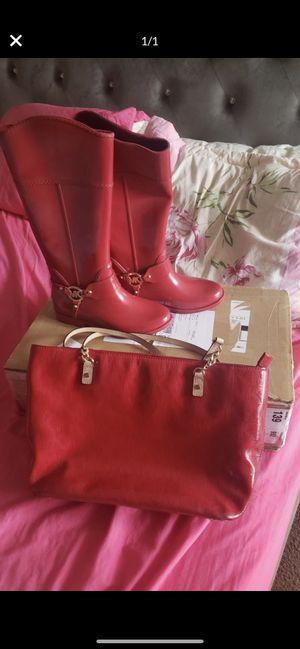 MK rain boots & purse for Sale in Fresno, CA