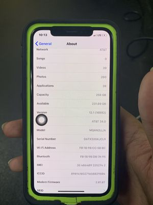 iPhone X/255gb memory service/AT&T service for Sale in Washington, DC