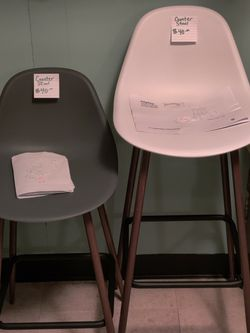 Copley Plastic Counter Stool. Grey for Sale in Milwaukie,  OR