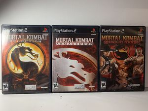 Mortal Kombat 3 game pack. Ps2 - Shaolin Monks - Deception - Armageddon for Sale in Suwanee, GA